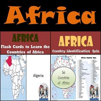 Africa - Flash Cards & Quiz Bundle!