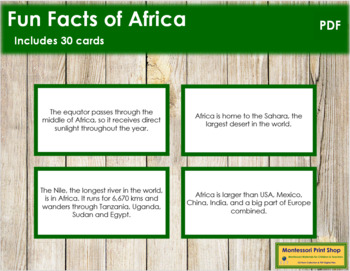 Africa Fun Facts (color borders)