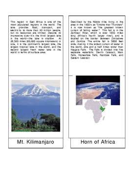Africa - Geographic Features