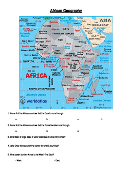 Africa: Geographic Map