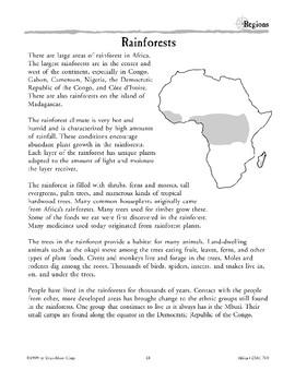 Africa: Geographic Regions