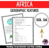 Africa - Geographical Features VA SOL 3.6