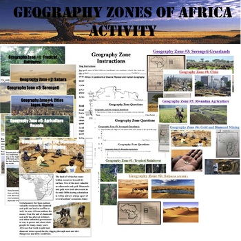 Africa Geographical Zones Activity