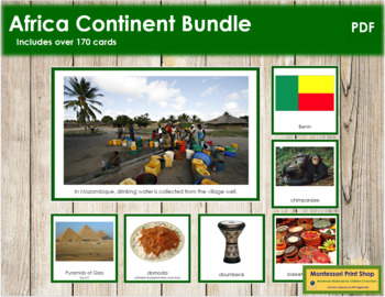 Africa Geography Continent Bundle - (Color Borders)