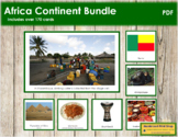 Africa Continent Bundle (Color Borders) - Montessori Geography