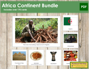 Africa Geography Continent Bundle - Montessori Geography Cards