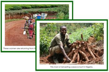 Africa Geography Folder (color borders) - Montessori