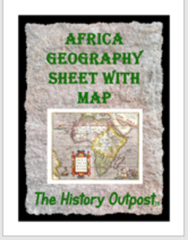 Africa Geography Sheet with Map