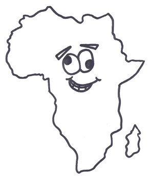 Africa Geography Study Map