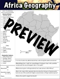 Africa Geography Worksheet