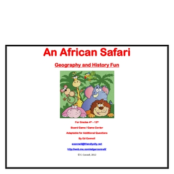 Africa Geography and History Board Game