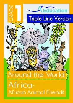 Africa (II): African Animal Friends (with 'Triple-Track Writing Lines')