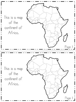 Africa Continent Booklet | 48 Pages for Differentiated Learning + Bonus Pages