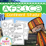 Africa Continent Booklet | 48 Pages for Differentiated Lea