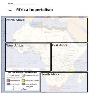 Africa Imperialism Powerpoint/Keynote With Notes