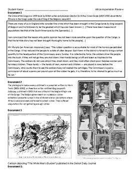 Africa Imperialism Unit - activities, worksheets, crq