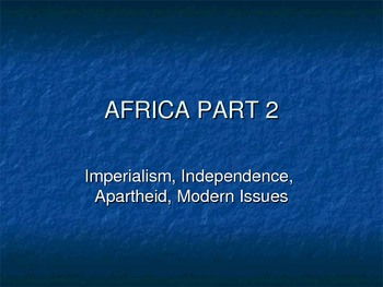 Africa (Imperialism to Present Day) Jeopardy Game