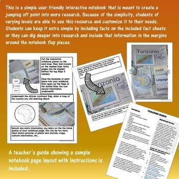 Africa Interactive Notebooks for Research Bundle