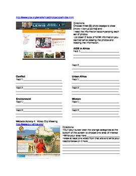 Africa Intro (multiple Online sites)