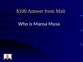 Africa Jeopardy!