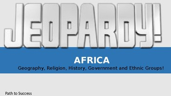 Africa Jeopardy Game! Editable Version Included!!