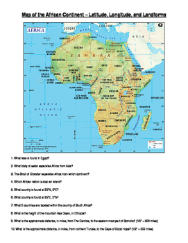 Africa: Latitude and Longitude