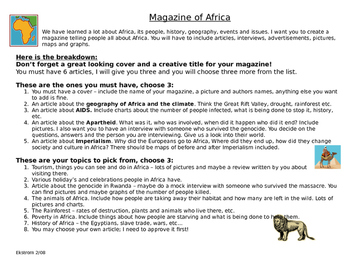 Africa Magazine Project