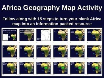Africa Map Activity - fun, engaging, follow-along 34-slide PPT (w video links)