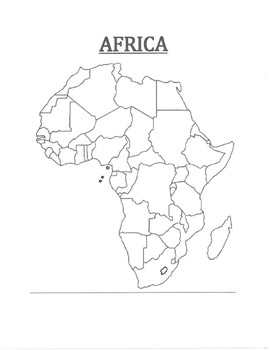 Africa Map Blank By Pointer Education Teachers Pay Teachers