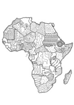 Africa Coloring Pages Worksheets Teaching Resources Tpt
