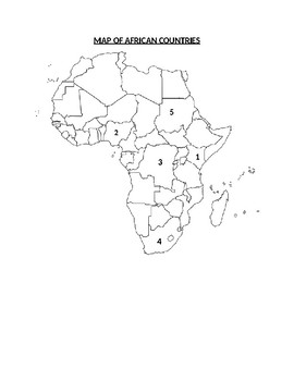 Africa Map ID Exercise