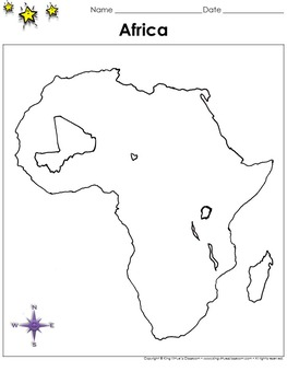 Africa Map - Mali - Blank - Full Page - Continent - Portrait - King Virtue