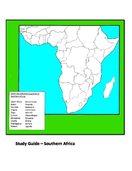 Africa Map Test by Scott Harder | Teachers Pay Teachers