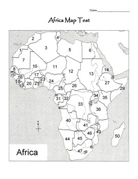 Africa Map Test Worksheets & Teaching Resources | TpT