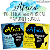 Africa: Map Unit Bundle with Outline Maps, Activities, and Map Tests