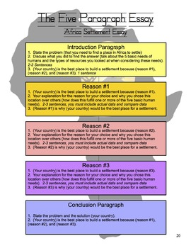 Africa Map and Essay Project - Geography Projects