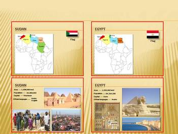 Africa Countries PowerPoint presentation Political map Egypt distance learning