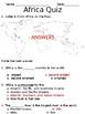 Africa: Notetaking + Quiz (VA SOL aligned)