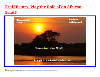 Africa - Oral History