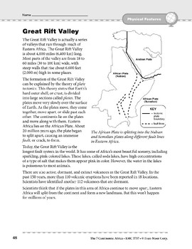 Africa: Physical Features: Great Rift Valley