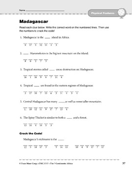 Africa: Physical Features: Madagascar
