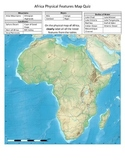 Africa Physical Features Map Quiz