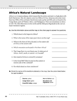 Africa: Physical Features: Natural Landscape