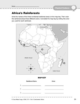 Africa: Physical Features: Rainforests