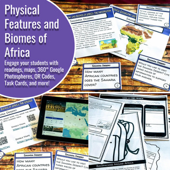 Biome activities teaching resources teachers pay teachers africa geography physical features and biomes activity fandeluxe Choice Image