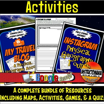 Africa Physical Geography Bundle Lesson Plans, Map Activities & Quizzes