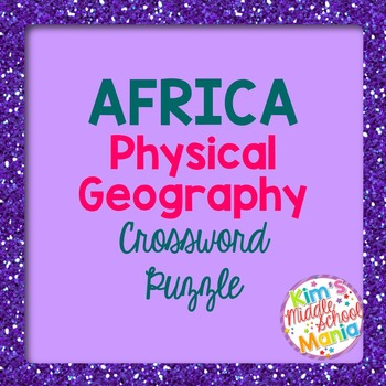 Africa Physical Geography Crossword