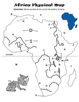 Africa Physical Political Map Activity Quiz