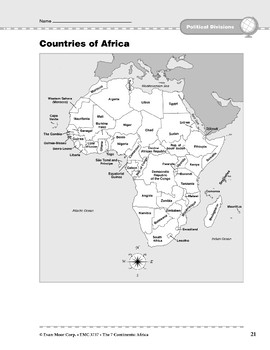 Africa: Political Divisions: Countries