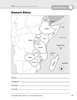 Africa: Political Divisions: Eastern Africa